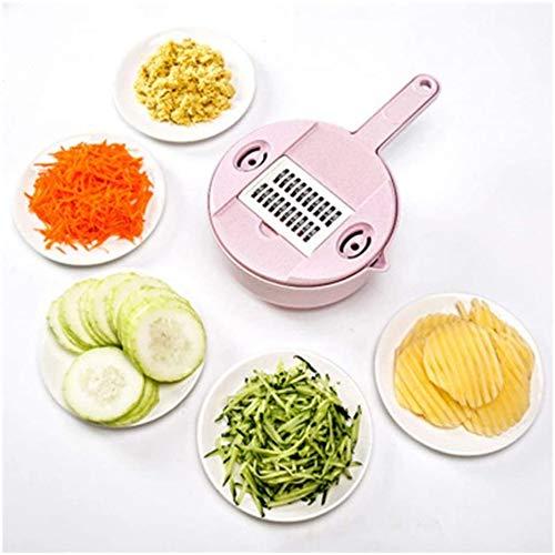 ZGYQGOO Food Chopper Gemüseschneider, Edelstahl 4-seitig Boxed Grater Slicer Kartoffelschäler Karottenkäse Reibe Gemüseschneider Küchenzubehör