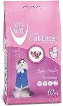 Van Cat 10 kg Baby Powder Perfumed White Bentonite Clumping Cat Litter
