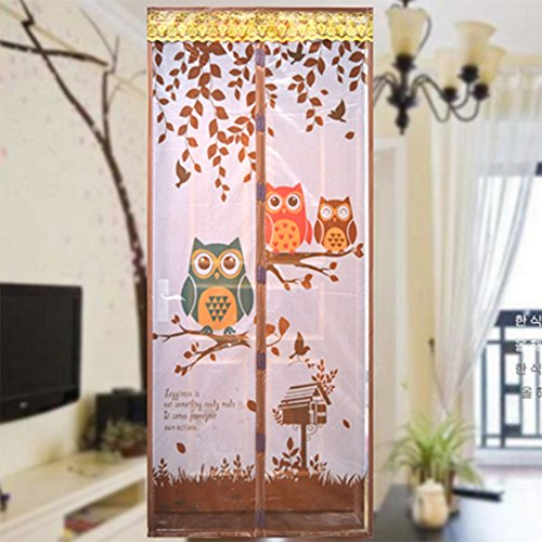 Coffee Owl Magnetic Screen Door Full Frame Magic Mesh Net Anti-mosquito Curtain, 90*210cm