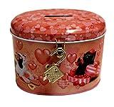 Love Cats & Dogs Hucha con candado y llave (rosa)