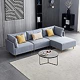 DADEA Ecksofa mit Schlaffunktion, Eckcouch in L-Form mit Schlaffunktion, L-förmiges modulares Sofa, umbaubar, Modern Fabric Sofa, U-Shape- 276cm