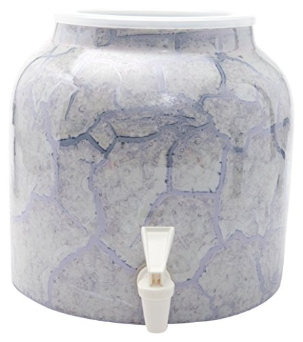 Bluewave Lifestyle Gray Bluewave Marble Purple Design Beverage Dispenser Crock