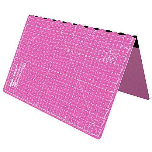 ANSIO Alfombrilla de corte plegable autorregenerable A2. Ideal para manualidades, acolchados, costura, álbumes de recortes, telas y manualidades en papel - Imperial - 23 '' x 17 '' - Rosa