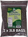 Get Chia Brand Chia Seed | Triple Cleaned | Cold Stored | Lab Tested | Organically Grown | Non GMO | 6 LB