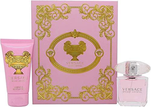 Versace Bright Crystal edt Spray 30ml y perfumado Loción Corporal 50ml