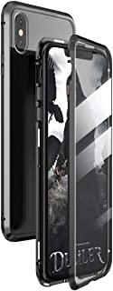Honor View 10 Case, Gift_Source Magnetic Adsorption Full Body Protective Case Clear Tempered Glass Full Screen Coverage Metal Bumper Frame Hard Cover for Huawei Honor V10/Honor View 10 (5.99