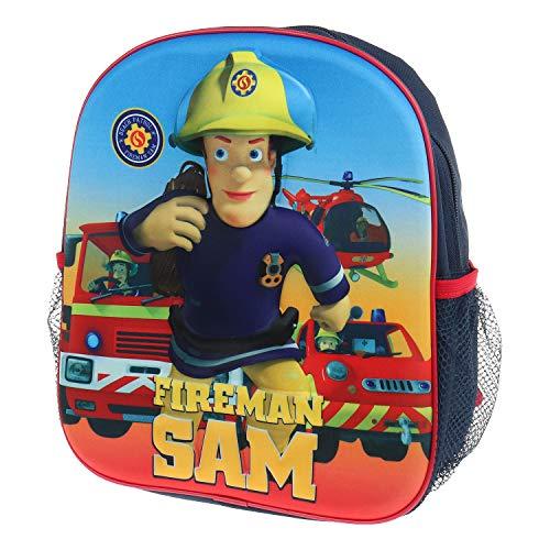 3D-Kinderrucksack für Mädchen und Jungen PAW-Patrol, Feuerwehrmann Sam Fireman Sam (Fireman Sam)