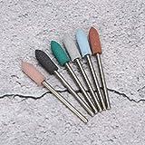 Eliminación de piel muerta Brocas de uñas duraderas Juego de cabezal de pulido de lijado para pulido de uñas para el hogar(Set 12)