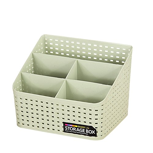 MVANKER Multi-Grid Plastique Organisateur Cosmétiques étui Maquillage Brosses Porte-Boîtes de Rangement Grand Vert