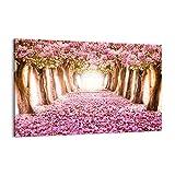 Cuadro sobre lienzo - Impresión de Imagen - Árbol flores cereza naturaleza - Imagen Impresión - Cuadros Decoracion - Impresión en lienzo - Cuadros Modernos - Lienzo Decorativo - (AB) 2794