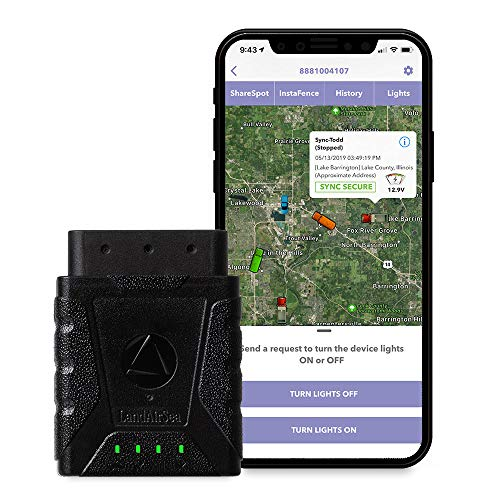LandAirSea Sync GPS Tracker - USA Manufactured. 4G LTE Real Time Tracking. Fleet Tracker. Subscription is required.