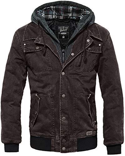 Brandit Dayton Jacke Charcoal-grau, incl. herausnehmbarem Sweateinsatz, Größe XL-
