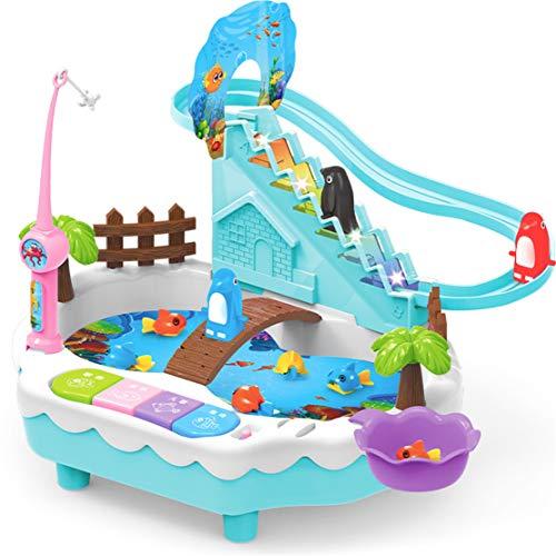 WEIGZ Elektrisches Rätsel Kinderspielzeug-Pinguine Klettern die Treppe hinauf. Fishing Toys Zwei in Einheit