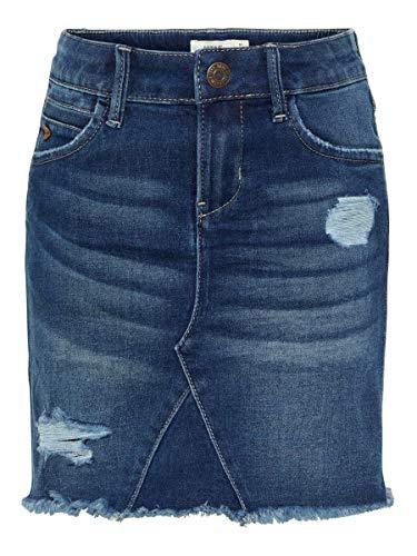 NAME IT Mädchen Nkftonja DNM 3151 Skirt Noos Rock, Dark Blue Denim, (Herstellergröße:92)