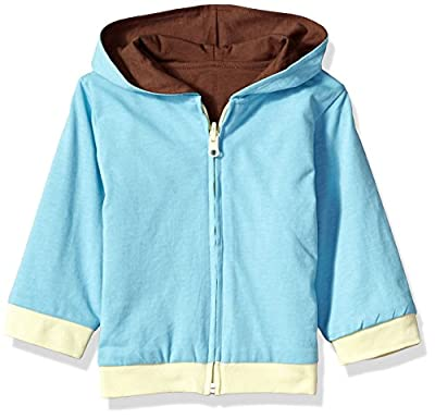 Baby Soy All-Natural Year-Round Reversible Hoodie Ocean/Chocolate, Size 12-24 months