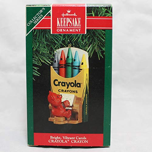 Hallmark Keepsake Ornament Bright Vibrant Carols Crayola Crayon 3rd in Series 1991