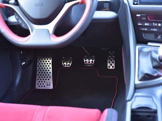 Fußstütze Stahlabdeckung Für Civic Ix Und Type R Iv Fk2 Type R Emblem 1 Stück Auto Sport Fußablage Fußpedal Pedal Edelstahl Gebürstet Auto