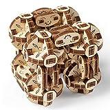 UGEARS Flexi-Cubus – Jouet Mécanique Flexi Cube à Construire – Puzzle 3D en Bois Anti-Stress pour Enfants et Adultes – Améliore l'Attention et la Concentration – 144 Pieces – Idée Cadeau Parfaite