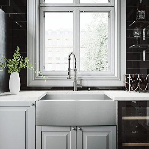 VIGO VG15236 All in One 30 inch Farmhouse Stainless Steel Kitchen