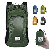 4Monster Hiking Daypack,Water Resistant Lightweight Packable Backpack for Travel Camping Outdoor (Army Green-2, 16L)
