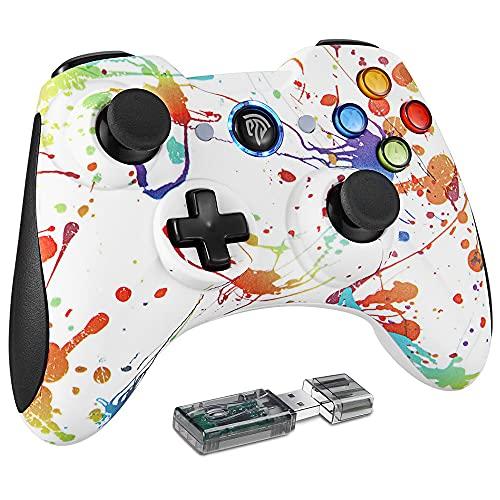 REDSTORM Mando para PC/PS3, Wireless Bluetooth PC Controller, Controlador de Juegos con Dual Shock y Turbo, Joystick Gamepad Windows XP/7/ 8/10