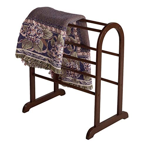 Why Should You Buy Quilt Rack Brown Transitional Wood Walnut Finish