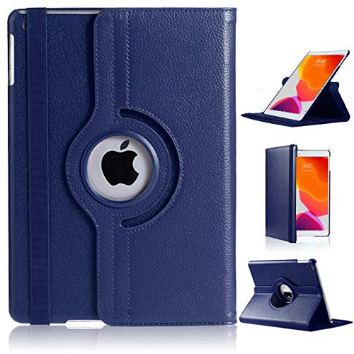 DN-Technology iPad 10.2 Case, iPad 8th Generation 10.2 2020 Case, iPad 7th Generation 10.2 2019 Case, iPad 10.2 inch Case 360 Degree Auto Sleep/Wake Leather Smart Folio Case iPad 7/8 Case (ROYAL BLUE)