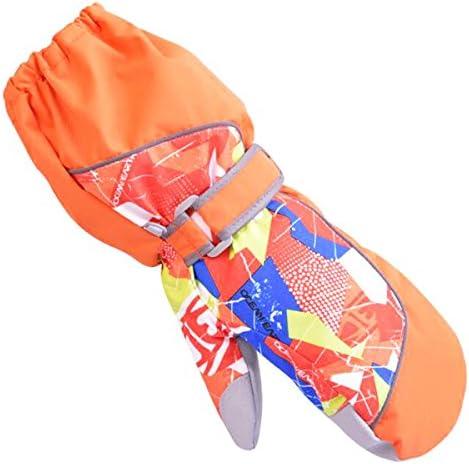 YAPJEB Kids Ski Mitten Waterproof Sports Winter Glove Mittens for Snowboarding Skating Orange product image