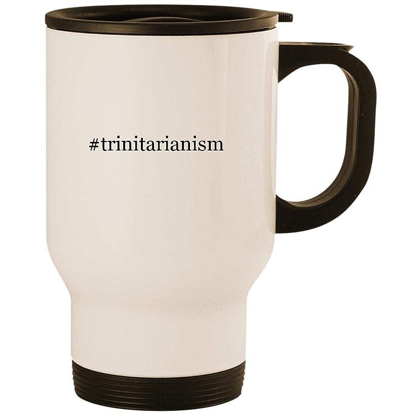 #trinitarianism - Stainless Steel 14oz Road Ready Travel Mug, White
