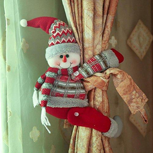 Arvin87Lyly - Fermaglio natalizio con gancio per tende, a forma di Babbo Natale, con fibbie, fermatenda