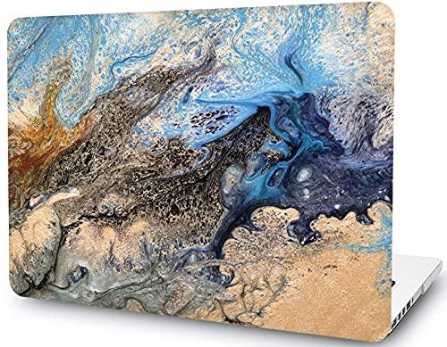 Funda para portátil de mármol Azul Dorado Compatible con MacBook Air de 11 Pulgadas / 11,6 Pulgadas (2015 2014 2013 2012 versión A1370 A1465), Funda rígida de plástico LYMGG, Azul Dorado