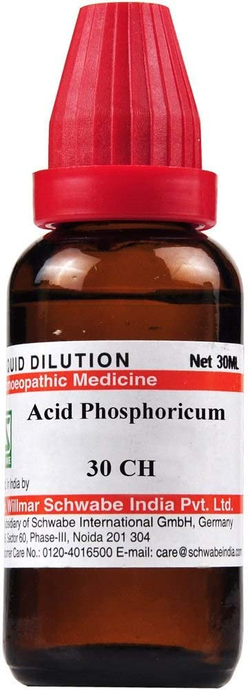 Overseas parallel import regular item Willmar Schwabe Homeopathic Acid Phosphoricum ML 30 by Miami Mall CH
