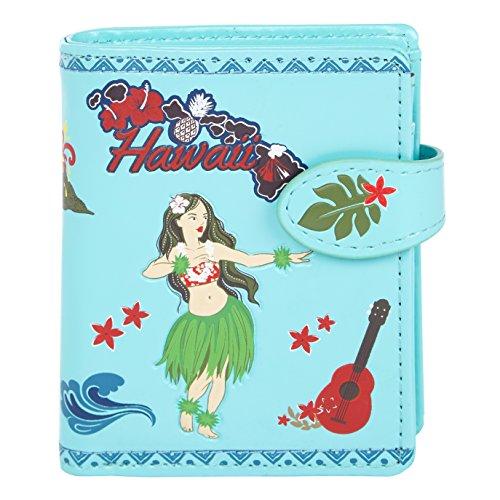 SHAGWEAR ® Portemonnaie Geldbörse Damen Geldbeutel Mädchen   Bifold Mehrfarbig Portmonee Designs: (Aloha/Aloha)