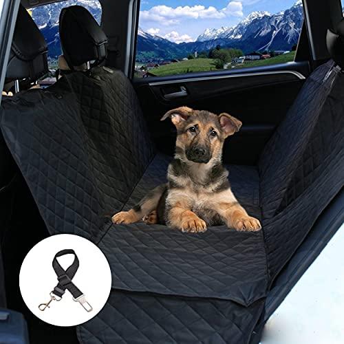 Big Ant Hundeschondecke für Tesla Model 3/S, wasserdichte Hundedecke für Auto Rückbank und Kofferraum, Rücksitzschoner mit Seitenschutz, Autoschondecke mit Sicherheitsgurt -Tesla Model 3/S