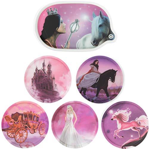 Fond of Bags Ergobag 2er Klettie-Set Prinzessin (5tlg.) + Prinzessin (LED-Klettie)