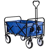 Best Folding Wagons - GRANDMA SHARK Heavy Duty Garden Cart, Folding Wagon Review
