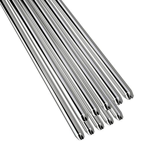 Roeam 10 STÜCKE Niedrigtemperatur Aluminium Schweißdraht Flussmittelkern, 2mm * 500mm Al-Mg Lötstab Keine Notwendigkeit Solder Pulver
