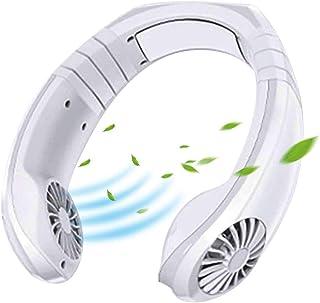 QIANRUNHE Ventilador de aire acondicionado portátil con ventilador de cuello para colgar el cuello, para liberar tus manos, dar a tus padres el mejor regalo