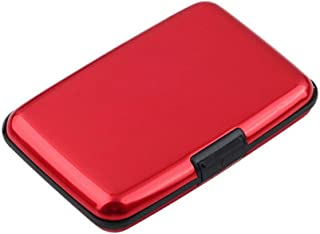 Portable Anti-Magnetic Metal ID Credit Card Wallet Holder Purse Pocket Case MN Red