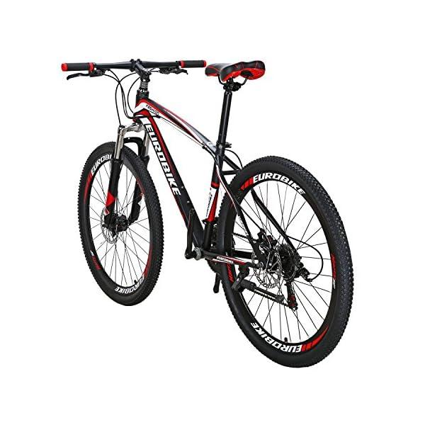 Mountain Bikes Eurobike X1 Mountain Bike 21 Speed Dual Disc Brake 27.5 Wheels Suspension Fork Mountain Bicycle