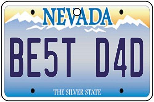 Nevada - Best Dad License Plate Car Air Freshener
