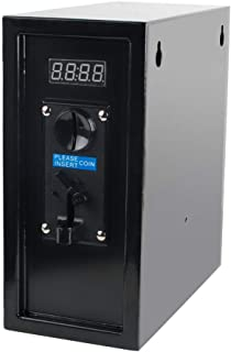 Pevor Coin Operated Timer Control Power Supply Box Coin Acceptor Programmable Control Coin Acceptor Multi Coin Selector for Vending Machine Electronicial Device 110V (Black)