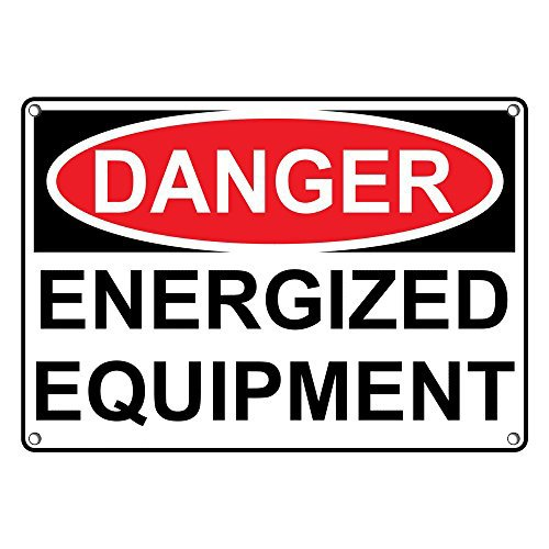 Weatherproof Plastic OSHA Danger Energized Equipment Sign with English Text