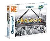 Clementoni- Minions Los Pingüinos De Madagascar Puzzle 1000 Piezas, New York (39370)