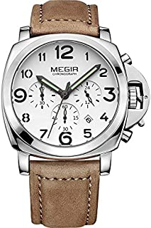 Megir Casual Watch For Men Analog Leather - 3406B