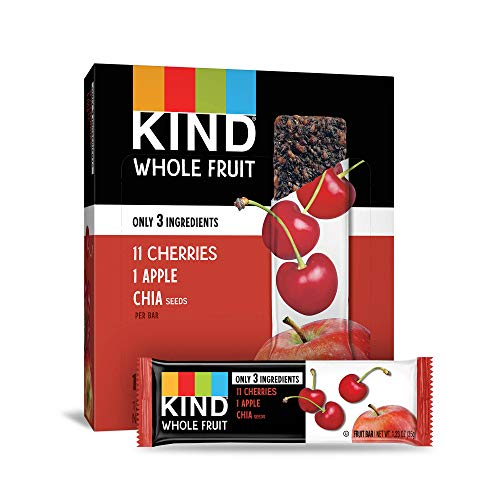 Pressed by KIND Fruit Bars, Cherry Apple Chia, No Sugar Added, Gluten Free, 1.2oz, 12 Count