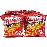 Hanami Shrimp Cracker 15g. Pack of 12 Original Taste.