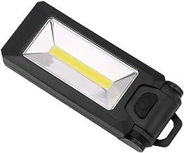 4 LED + COB magnetisch werklicht klaphaak tentlamp zaklamp lanterna 2 modi zaklamp handige verlichting gebruik AAA zwart