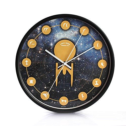 Horloge Pendule Murale Silencieuse En Quartz Style Moderne Créatif Horloge Chambre Salon Cuisine Bureau Horloge Murale De Salon De Mode Créative En Métal Minimaliste Moderne,12 Pouces,Star Trek