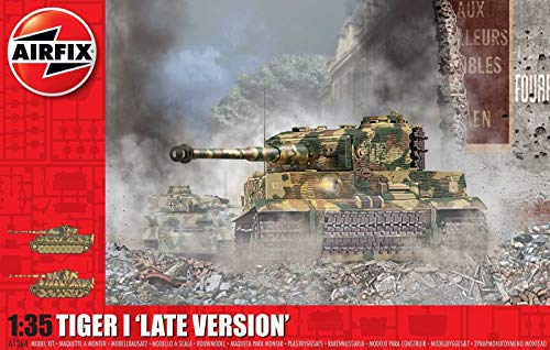 Airfix WWII Tiger-1 Late Version 1:35 Military Tank Plastic Model Kit A1364